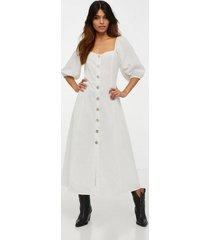 glamorous half sleeve button midi dress klänningar