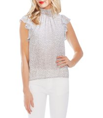 1.state x jaime shrayber printed flutter-sleeve top