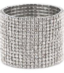 thalia sodi silver-tone rhinestone stretch bracelet, created for macy's