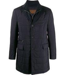 corneliani padded v-neck jacket - black