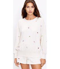 loft petite lou & grey fruity cozy cotton terry sweatshirt