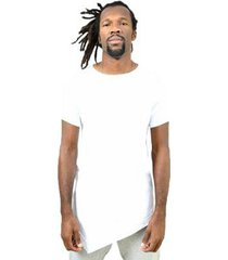 camiseta assimétrica lisa masculina