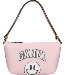 ganni shoulder bag in viola polyester