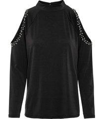 maglia con cut-out (nero) - bodyflirt
