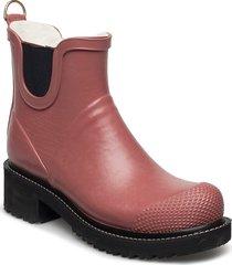 short rub high heel shoes boots rain boots ankle boots flat heel röd ilse jacobsen
