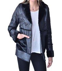 abrigo chiporro negro alexandra cid