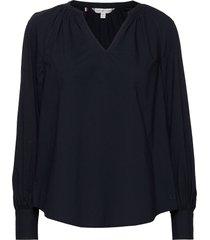 lacie blouse ls blouse lange mouwen blauw tommy hilfiger