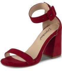 sandalias tacón alto celia rojo para mujer croydon