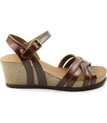 sandalen panama jack dames sandaal vera clay. cognac