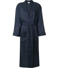 pour les femmes tie waist robe - blue
