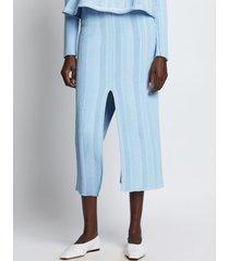 proenza schouler ottoman knit skirt 11443 chambray/white/blue m