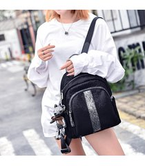 mochila de mujer, mochila de moda mochila de lentejuelas-negro