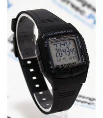 reloj casio hombre modelo db 36 -1a goma telememo iluminaitor- negro