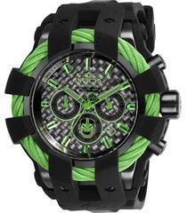 reloj invicta negro modelo 260gn para hombres, colección marvel