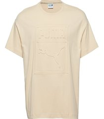 archive embossed print tee t-shirts short-sleeved gul puma
