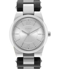relógio euro feminino acetato hit bicolor - eu2035yly/3k eu2035yly/3k