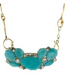 amazonite necklace with aquamarines