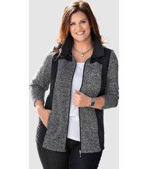 fleece vest m. collection zwart::grijs