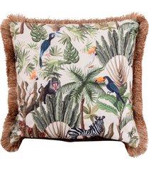 almofada decorativa de veludo lomami