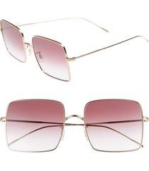 women's oliver peoples rassine 56mm sunglasses - soft rose gold
