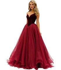 women's long dark red prom dress, evening dress,party dress, prom gown