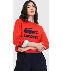 buzo rojo-azul navy lacoste