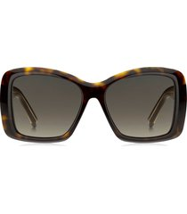givenchy 57mm gradient square sunglasses in dark havana/brown gradient at nordstrom
