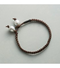 plaited pearl bracelet