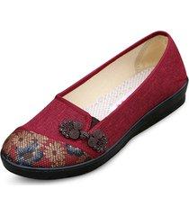 nodo cinese tradizionale nodo floreale in cotone vintage vintage su scarpe piatte