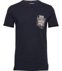 boutique t-shirt t-shirts short-sleeved blå les deux