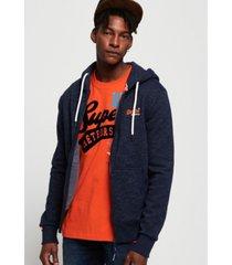 superdry men's classic zip-up hoodie