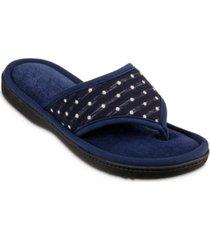 isotoner signature women's jersey dot ada thong slipper
