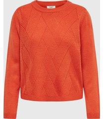 sweater jacqueline de yong naranjo - calce holgado