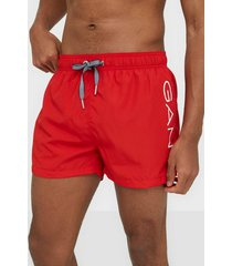 gant logo swim shorts lightweight badkläder bright red