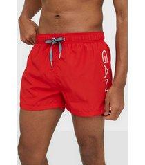 gant logo swim shorts lightweight badkläder bright red