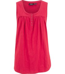 top in cotone con bottoncini (rosso) - bpc bonprix collection