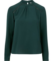 blus onlnew mallory l/s blouse solid wvn
