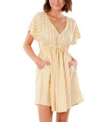 rip curl juniors' geometric-print cotton dress