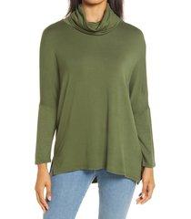 women's caslon high/low tunic, size x-large - green