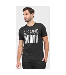 camiseta calvin klein underwear código de barra preta