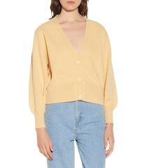 women's sandro wool cardigan, size 2 - yellow