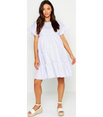 maternity broderie anglaise smock dress, lilac