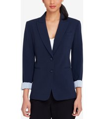 tahari asl two-button peak-collar blazer