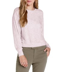 women's michael starts crewneck pullover top, size large - pink