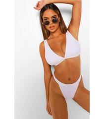 essentials driehoek bikini top met volle cup, wit