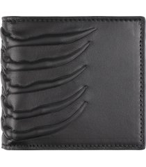 alexander mcqueen leather flap-over wallet