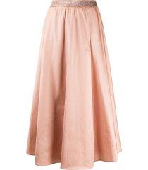 altea lurex waistband maxi skirt - pink