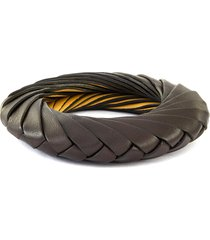 twisted leather bracelet