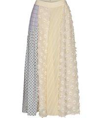 maribelle, 845 chiffon mix knälång kjol stine goya