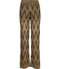 ursa knit trousers wijde broek bruin second female
